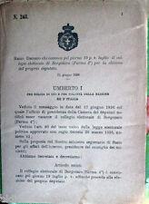 1896/248 Regio Decreto che convoca per la elezione deputato di BORGOTARO (Parma)