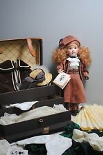"""Wendy Lawton Doll 11"""" """"Springtime in Paris"""" # 71/250 and Trunk with Clothes"""