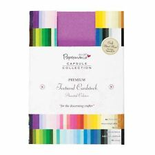 Papermania A6 75-Piece Capsule Collection Premium Textured Cardstock, Multi-Colo