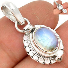 Poison Pendant - Rainbow Moonstone 925 Sterling Silver Pendant Jewelry SP200565