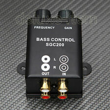 Car Home Amplifier Subwoofer Equalizer Crossover RCA  Adjust Line Level Volume