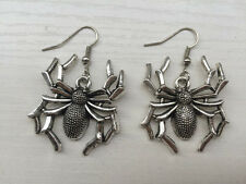 Women Beautiful Retro silver Spider earrings,  Handcrafted