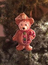 *Gingerbread Teddy* Bear [12439] Old World Christmas Glass Ornament - NEW
