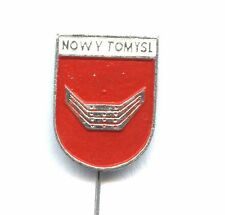 Nowy Tomyśl (niem. Neutomischel) pin Polish city badge coat of arms POLAND