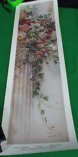 New HL 01 Ivy & Honeysuckle Print by Lena Liu Overall Size 8 x 26 with COA