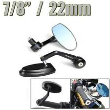 "Motorcycle 7/8"" Handle Bar End Side Rearview Mirrors For Harley Honda BOBBER"
