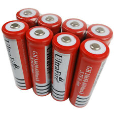 8X 3.7V 18650 Li-ion 6800mAh Rechargeable Battery for UltraFire LED Torch Light