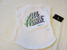 Nike active Nike TEE t shirt Toddler girls 4T 3-4 years 36A640-001 white NWT^^