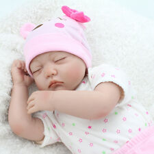 "22"" Handmade Realistic Reborn Dolls Newborn Real Life Baby Doll Girl Sleeping"