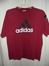 Rare Maroon ADIDAS-EQUIPMENT VTG T Shirt 90s VintageTee Medium