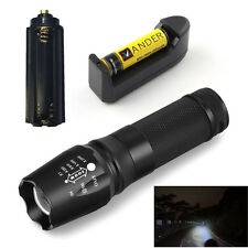 Rechargeable Flashlight 5-Mode 2000 Lumen XM-L T6 LED Outdoor + Battery&Charger