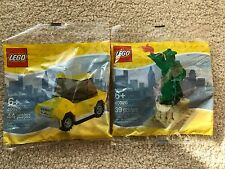2x LEGO New York Exclusive Polybags 40025 Taxi & 40026 Statue of Liberty BNISP