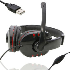 New Luxury Headset Headphones & Microphone for PS3/PC Game Mic Black and Red US
