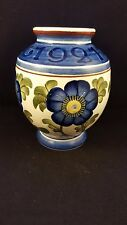 Aluminia Faience Royal Copenhagen Denmark Vase Blue Flowers Early 1927