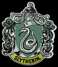 HARRY POTTER SLYTHERIN EMBROIDERED 4 INCH IRON ON  PATCH