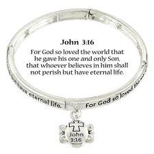 JOHN 3:16 FOR GOD SO LOVED THE WORLD HE GAVE HIS ONLY SON BRACELET #212-B