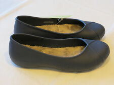 Crocs Womens Olivia II Lined Flat Navy blu relaxed fit W 8 W8 shoes Dual Comfort