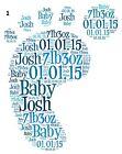 New Baby Newborn Word Art Gift Present