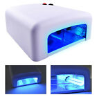 36W UV Lamp Nail Curing Light Gel Polish Dryer Machine Timer Fuse + 4 x 9W Bulbs