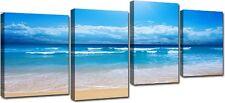 Quadro Moderno 4 Pezzi Cm 140x75 Arredo Arte Casa Mare Stampa su Tela Canvas