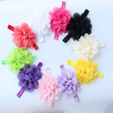 Girl Flower Headband Hair Bow Band Lovely Baby Toddler Infant Accessories 10pcs