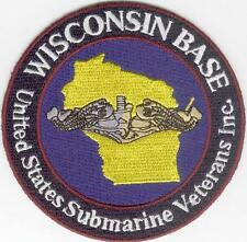 United States Submarine Veterans Inc. WISCONSIN BASE - BC Patch Cat. No. C6282