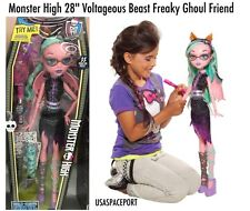 """28"""" Monster High My Size Doll PINK Voltageous Beast Freaky Friend Girls GIFT Set"""