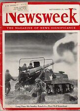 1944 Newsweek September 25-Gandhi,Jinnah seek accord; Alcoholism report;Sad Sack