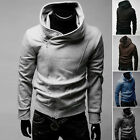 Mens Casual Stylish Slim Fit Incline Front Zip Up Hoodie Top Sweater Jacket Coat