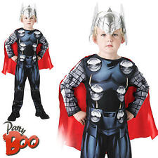 Classic Thor Ages 7 8 Boys Fancy Dress The Avengers Superhero Kids Child Costume