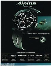 PUBLICITE ADVERTISING 095  2007  Les montres ALPINA  AVALANCHE extreme full