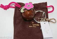 NWT Kate Spade Coconut Flower Drink Key Chain w/Lobster Clasp #WORU0025
