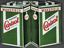 Castrol Cans large steel sign 400mm x 300mm (og)
