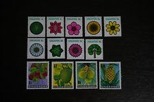1973 Singapore Flowers and Fruits Definitives Stamp Set MH
