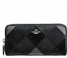ACCORDION ZIP WALLET IN METALLIC PATCHWORK LEATHER F55674 RRP$430