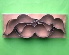 Moustache, sideburns, whiskers fondant baking pastry cookie cutter set 8484