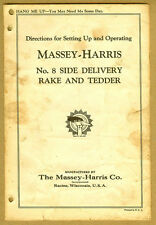 1930s Original MASSEY HARRIS Tractor Rake & Tedder Setting Up & Operating Manual