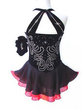 NEW Figure Ice Skating Dance Baton Small-Costume Dress Girls S
