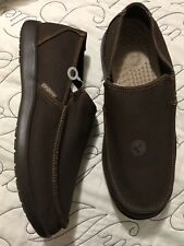 Crocs Santa Cruz Barbered Loafer Slip On Shoes Mens Size 9 Espresso