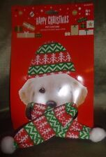 Red Green and White Design Christmas Pet Hat and Scarf