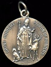 Saint Hubert Patron of Hunters Religious Pendent Silver Filled