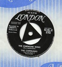 THE CHIPMUNKS,DAVID SEVILLE the chipmunk song 1958 UK LONDON TR-CENTRE 45