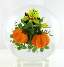 New Ken Rosenfeld Pumpkin Studio Art Glass Paperweight