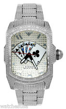 Aqua Master Men's Silver Dial Stainless Steel 024ct. Diamonds Watch W#63