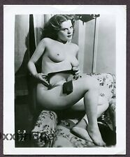 Absolutely Gorgeous Beautiful Girl 1950 ORIGINAL VINTAGE NUDE PINUP PHOTO B2513