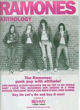 RAMONES Anthology UK magazine ADVERT / mini Poster 11x8 inches
