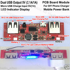 Dual USB PCB Board Charger Module 5V 2A for Mobile Power Bank Phone Charger LED