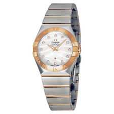 Omega Constellation Mother of Pearl Diamondand Rose Gold Ladies OM12320276055006