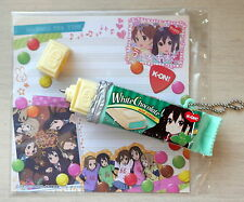 AUTHENTIC Re-ment Anime K-ON! Azusa Chocolate Bar Pen Phone Strap Sweet Lolita