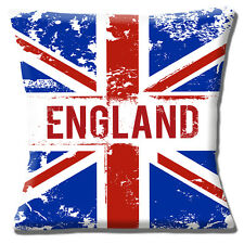 "NEW ENGLAND UNION JACK FLAG PATRIOTIC RED BLUE WHITE 16"" Pillow Cushion Cover"
